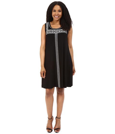 Karen Kane Plus Plus Size Embroidered Sleeveless Trapeze Dress