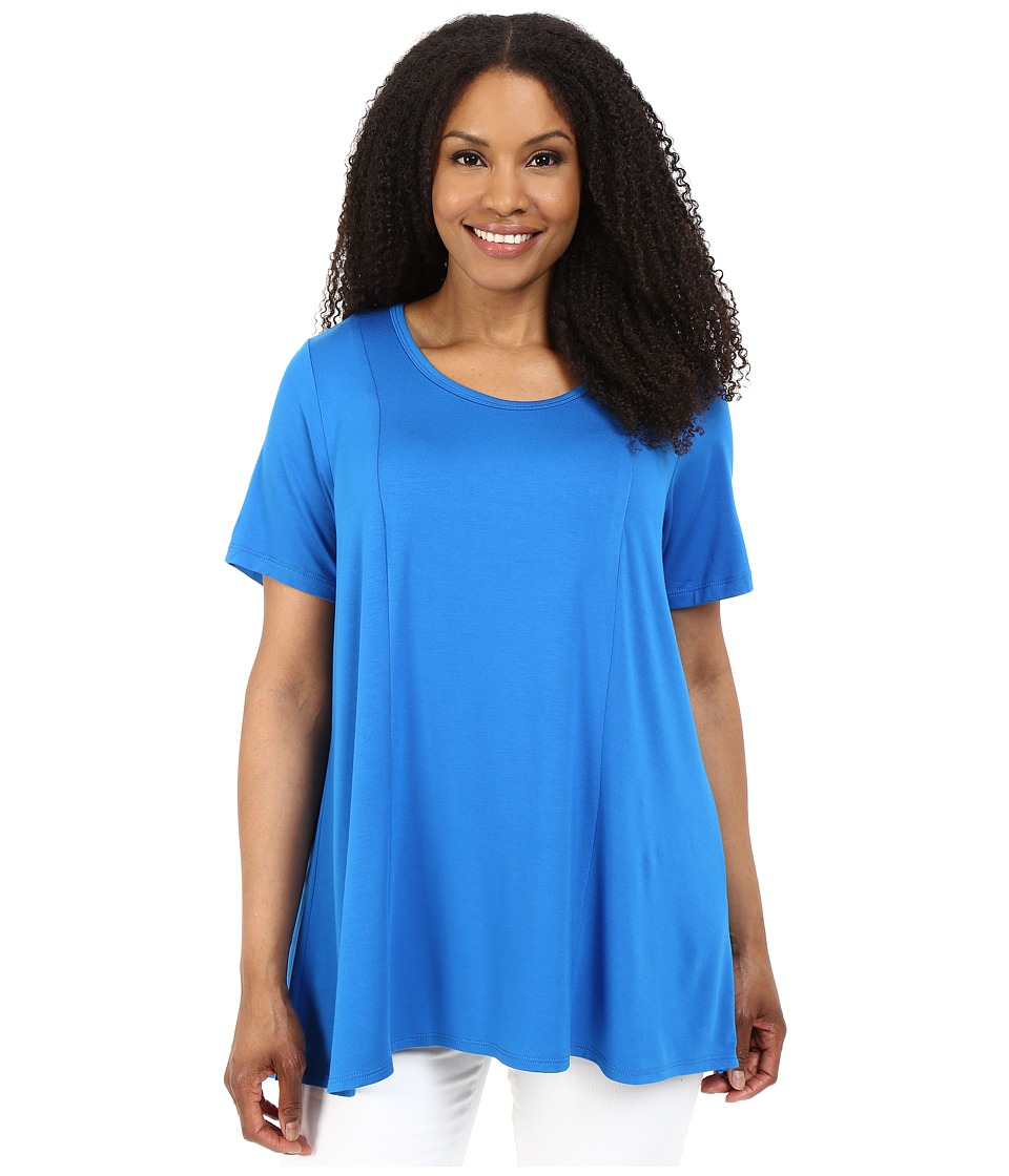 Karen Kane Plus Plus Size Keyhole Back Swing Tee Royal Womens T Shirt