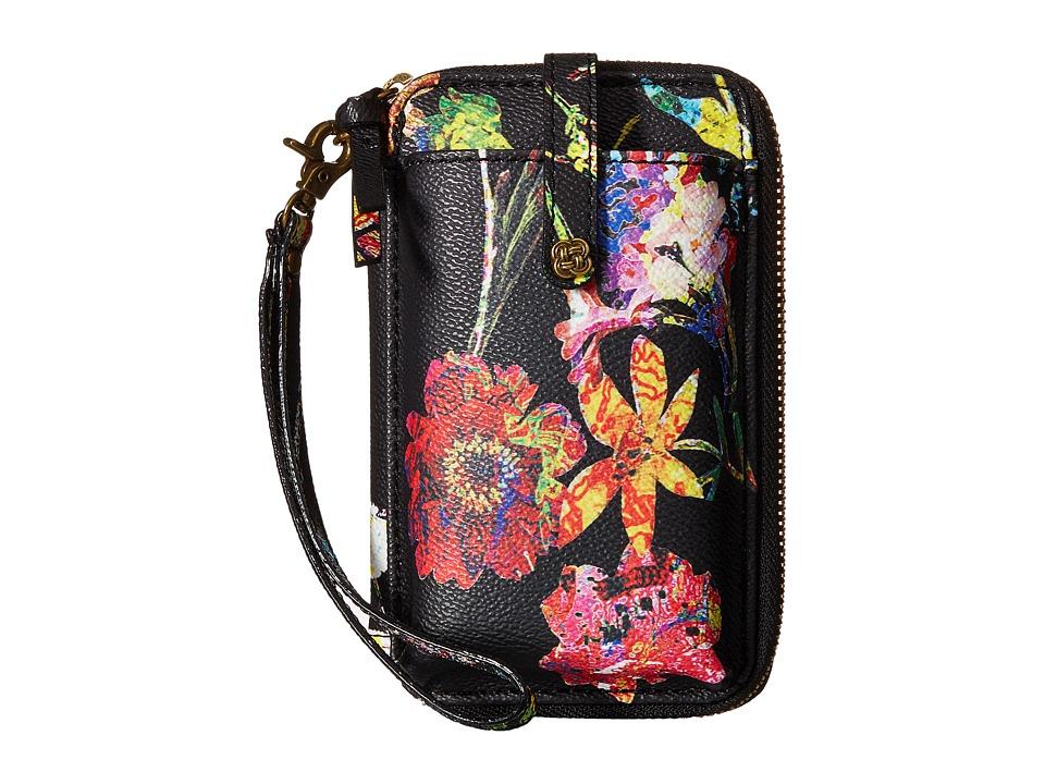 Elliott Lucca - Smartphpone Wristlet (Black Spring Botanica) Wristlet Handbags