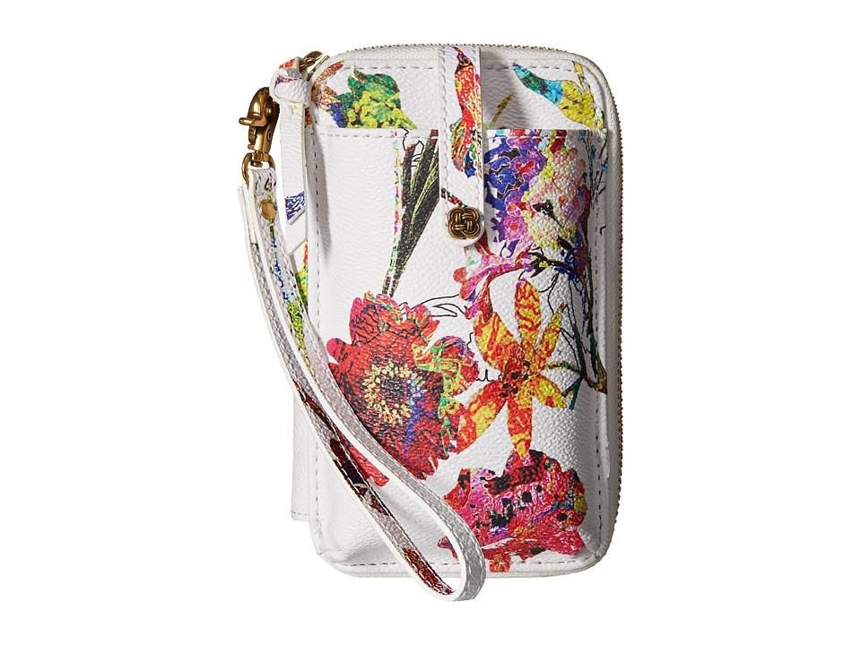 Elliott Lucca - Smartphpone Wristlet (White Spring Botanica) Wristlet Handbags
