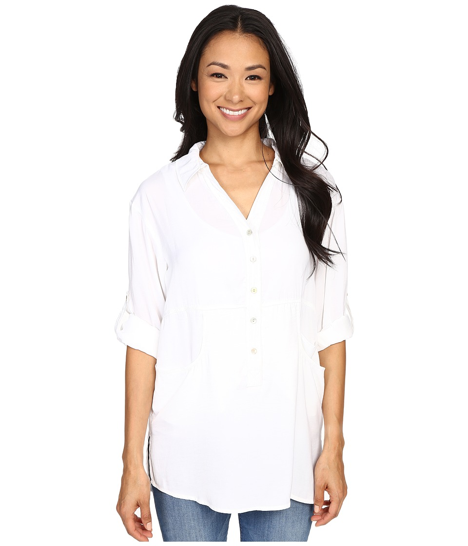 Miraclebody Jeans Trish Pocket Tunic w/ Body Shaping Inner Shell White Womens Blouse