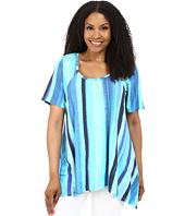 Karen Kane Plus - Plus Size Print Handkerchief Top