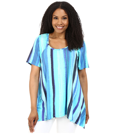 Karen Kane Plus Plus Size Print Handkerchief Top
