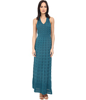 M Missoni - Solid V-Neck Maxi Dress