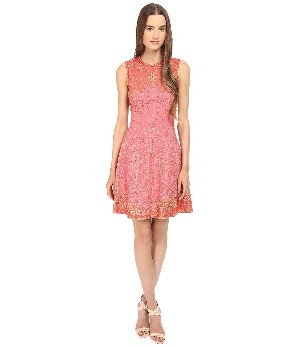 M Missoni Beaded Jaquard Dress Pink Womens Dress