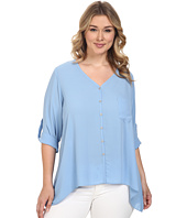 Karen Kane Plus - Plus Size Roll-Tab Handkerchief Top