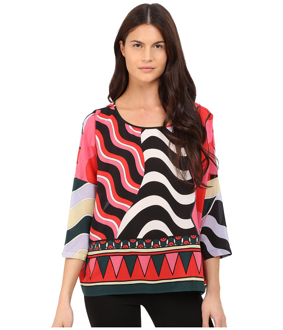 M Missoni Abstract Top Black Womens Clothing