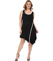 Karen Kane Plus - Plus Size Angled Drape Dress