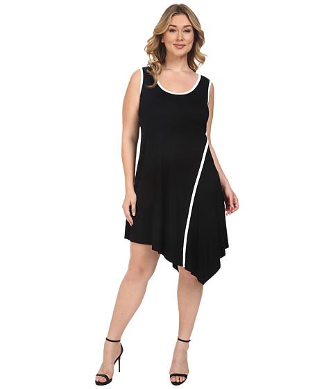 Karen Kane Plus Plus Size Angled Drape Dress