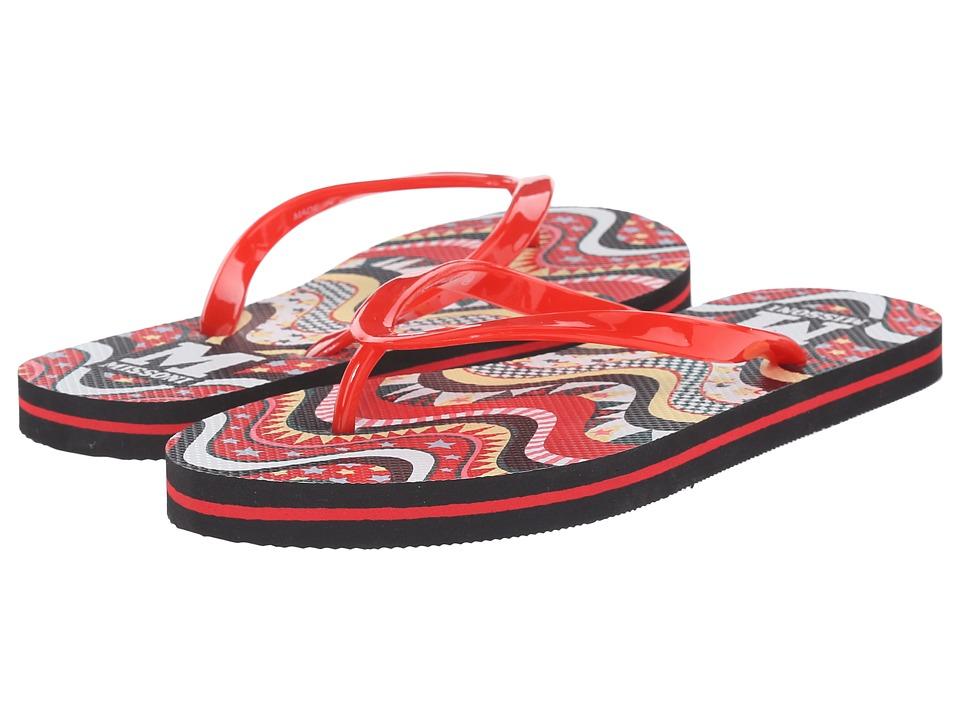 M Missoni Flip Flops Red Womens Sandals
