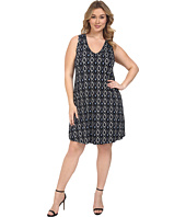 Karen Kane Plus - Plus Size Sleeveless V-Neck Dress