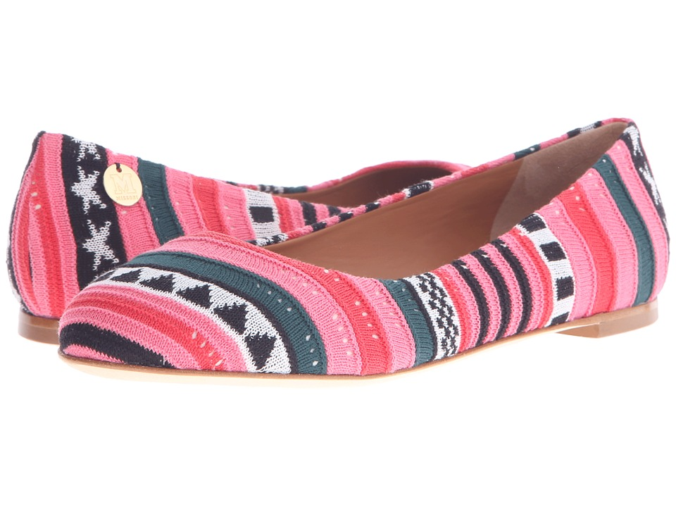 M Missoni - Star Stripe Pink Ballet Shoes (Red) Womens Ballet Shoes
