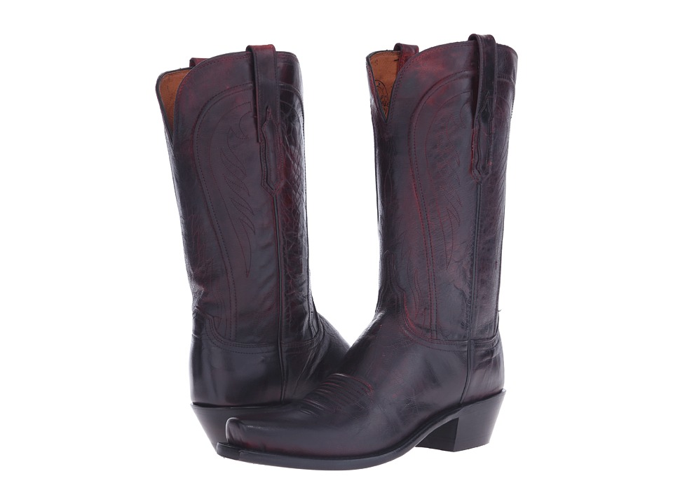 Willa (Black Cherry) Cowboy Boots