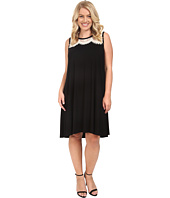 Karen Kane Plus - Plus Size Lace Yoke Trapeze Dress