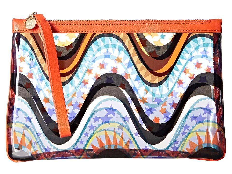 M Missoni Clear Circus Pouch Teal Handbags