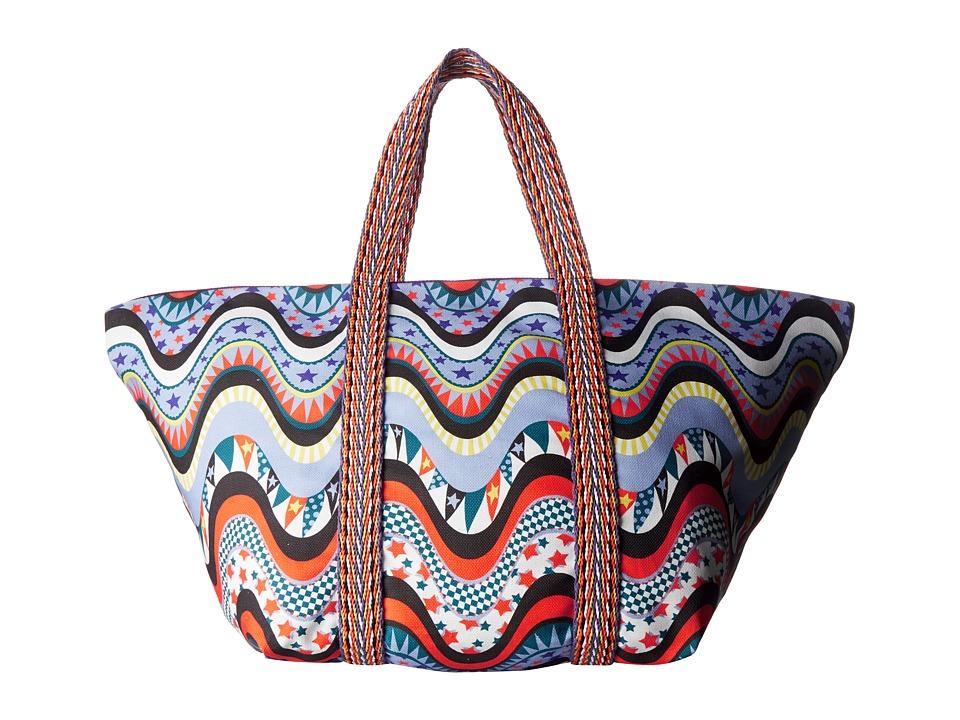 M Missoni Beach Bag Teal Handbags