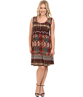 Karen Kane Plus - Plus Size Border Print Dress