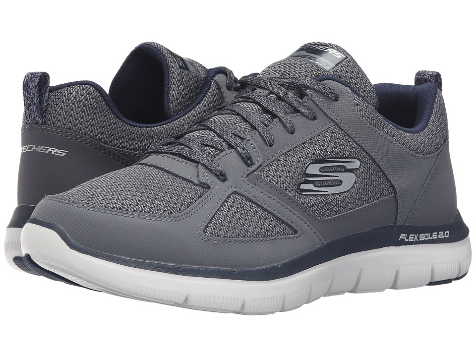 SKECHERS Flex Advantage 2.0 (Charcoal/Blue) Men