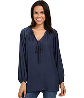 Miraclebody Jeans - Paula Peasant Blouse w/ Body-Shaping Inner Shell