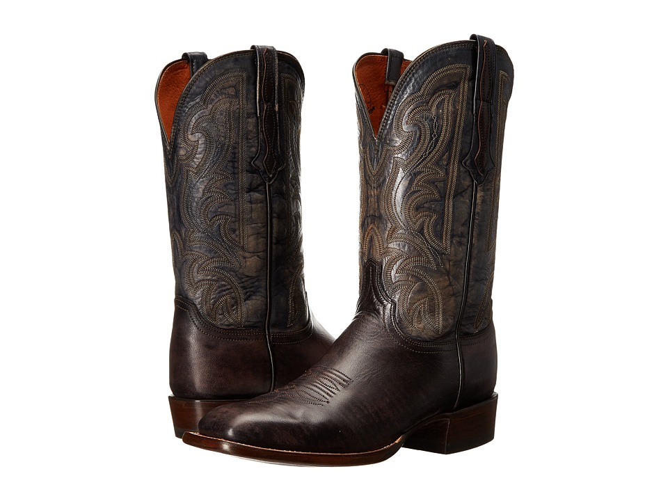 Lucchese Brock Dark Brown Cowboy Boots