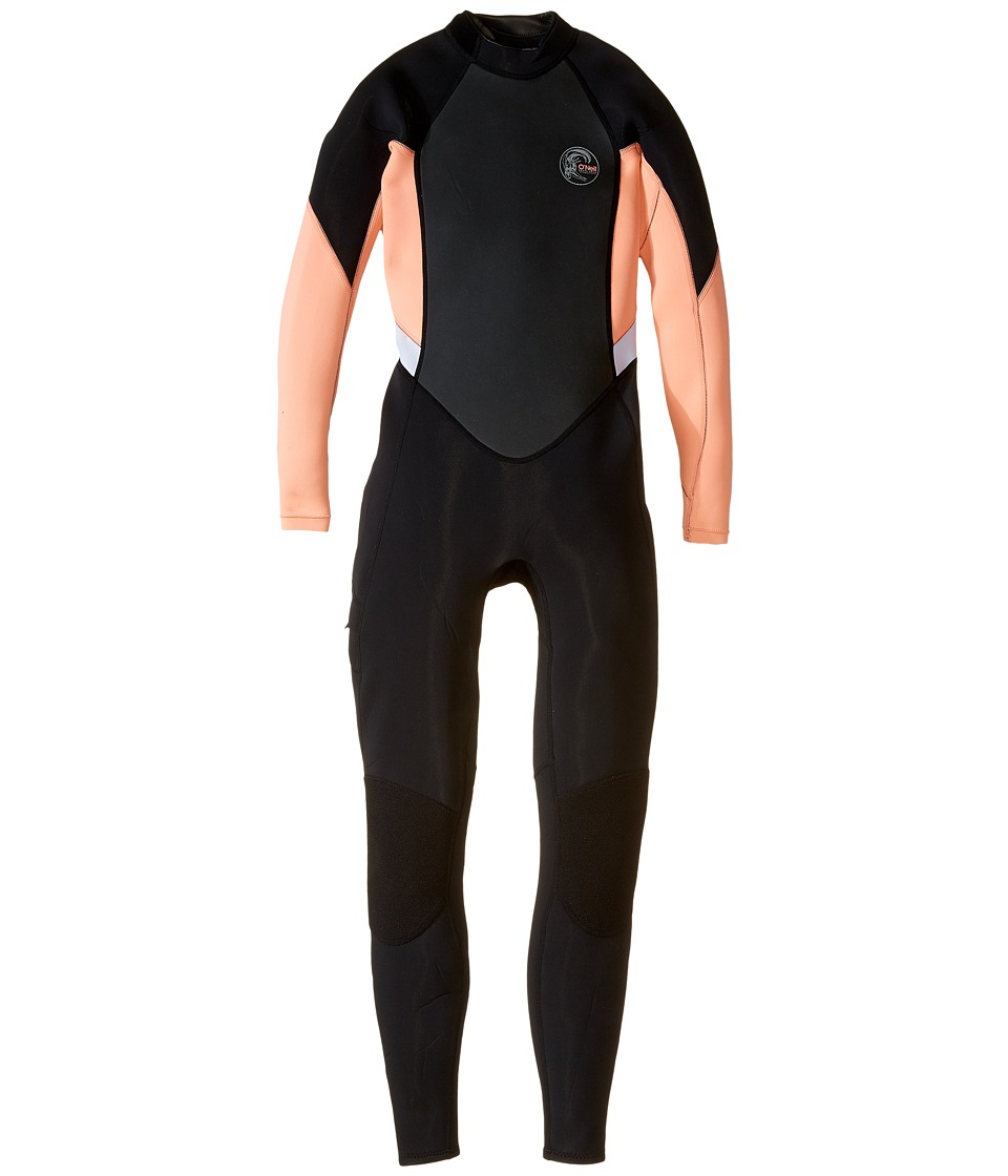 ONeill Bahia FL 3/2 Black/Light Grapefruit/White Womens Wetsuits One Piece