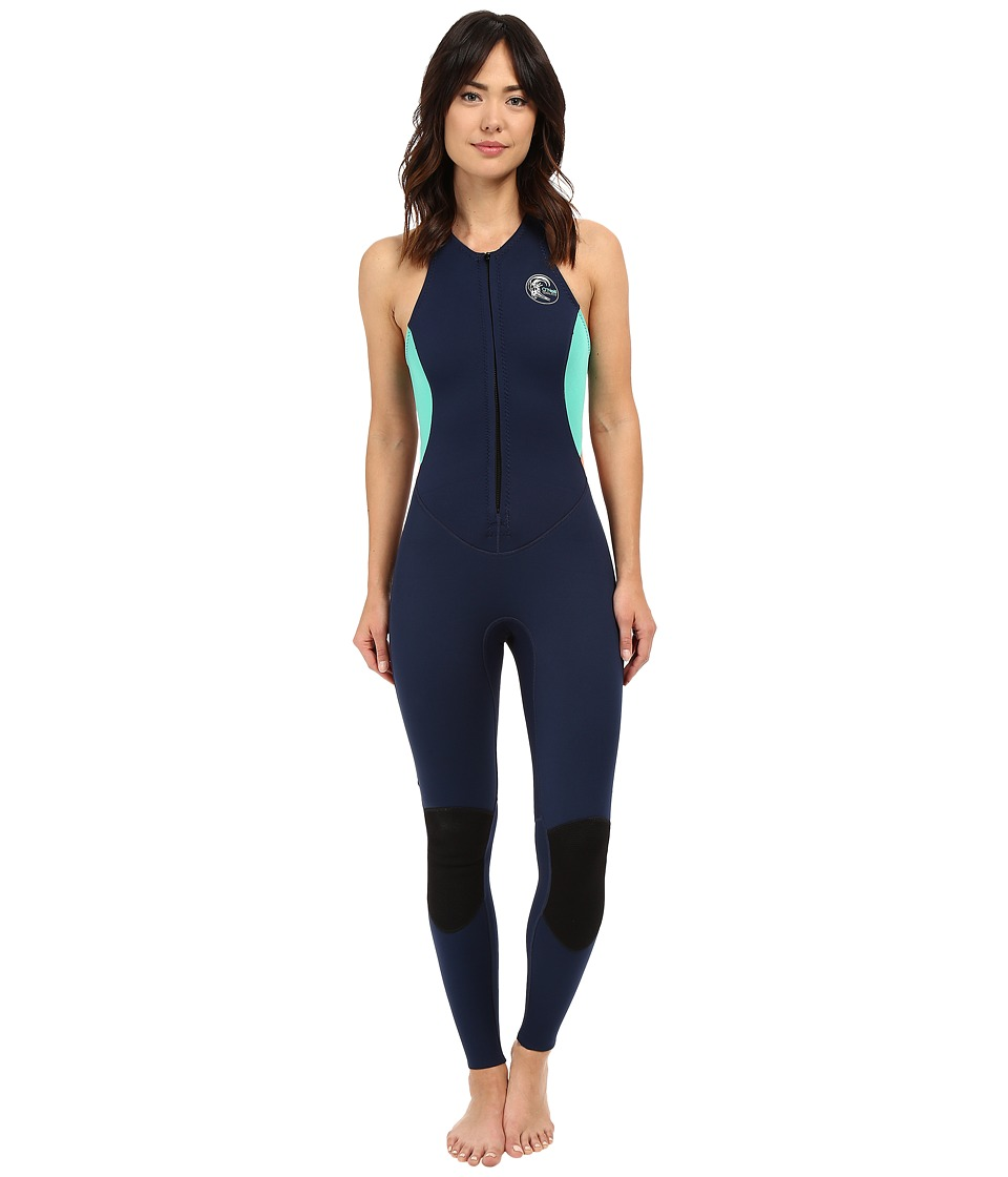 ONeill Bahia Jane Navy/Seaglass/Light Grapefruit Womens Wetsuits One Piece