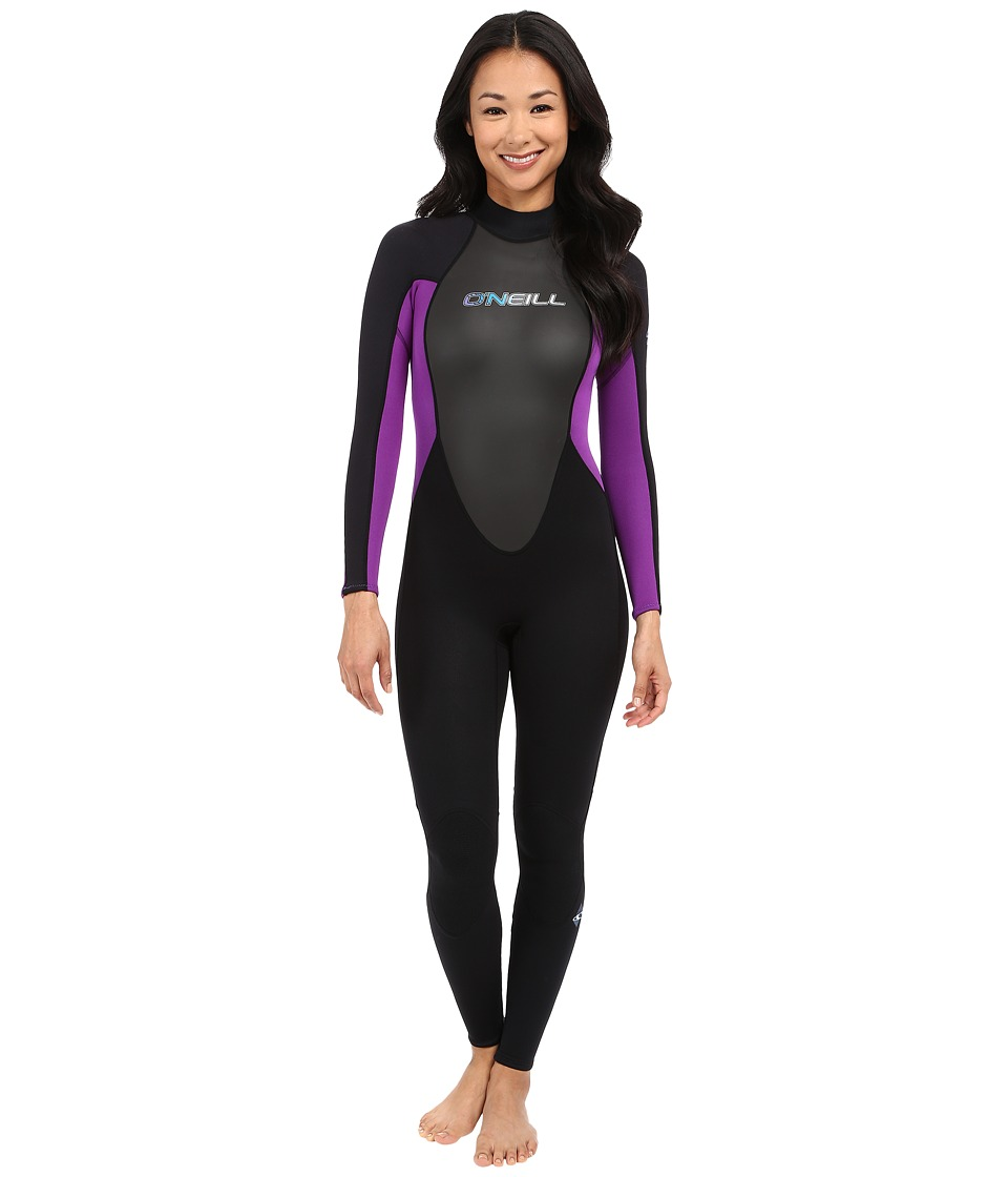 ONeill Reactor 3/2 Full Black/Black/UV Womens Wetsuits One Piece