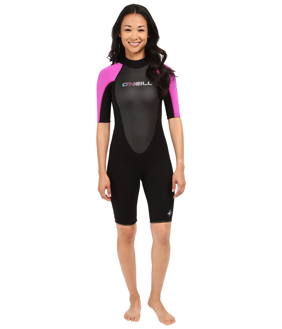 ONeill - Reactor Spring Suit (Black/Berry/Black) Womens Wetsuits One Piece