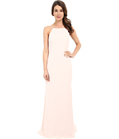 Badgley Mischka - Pleated Strap Gown