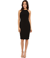 Badgley Mischka - Stretch Crepe Halter Cocktail Dress