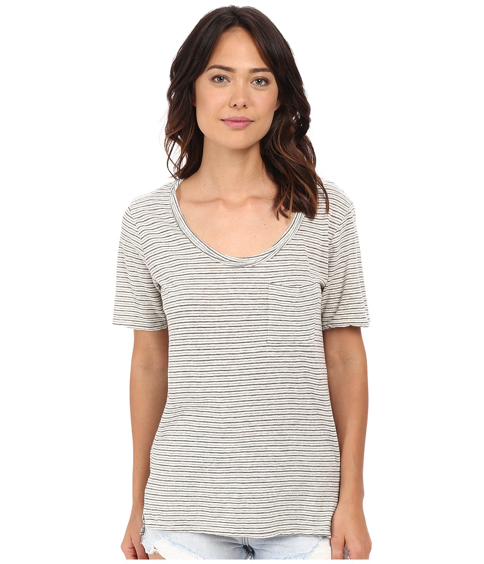 Project Social T Ale Striped Tee Washed Natural Womens T Shirt