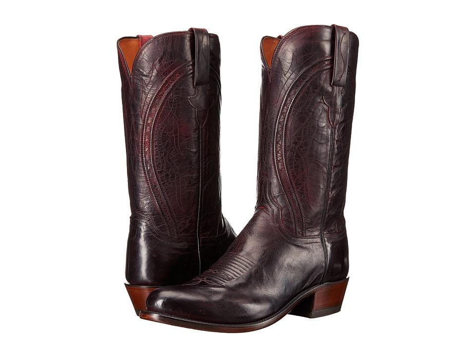 Lucchese Clint (Black Cherry) Cowboy Boots
