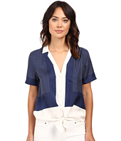 EQUIPMENT - Short Sleeve Keira Tie Front