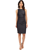 Maggy London - Stretch Denim Sheath with Exposed Zipper