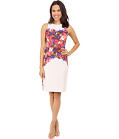 Maggy London - Water Rose Printed Scuba Sheath