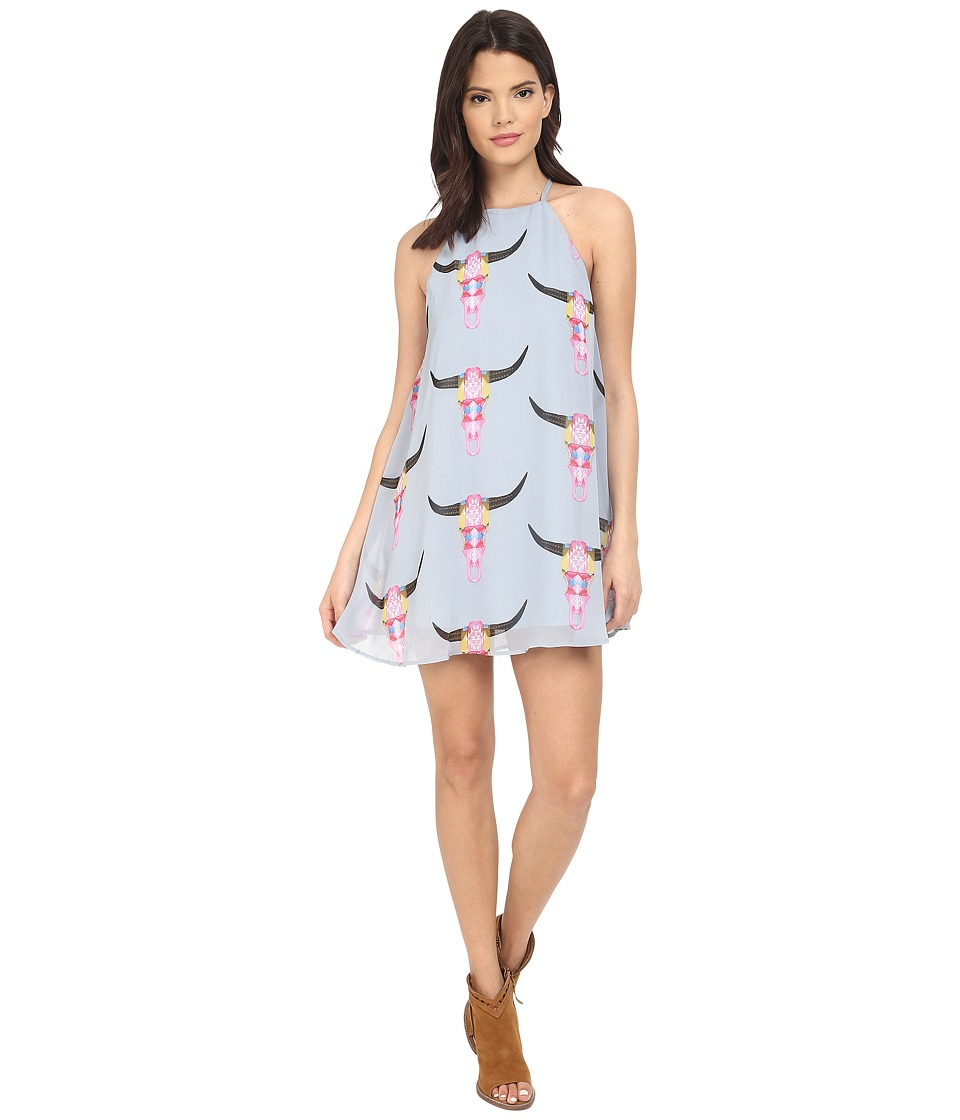 Show Me Your Mumu Gomez Mini Dress Lite Bright Bull Womens Dress