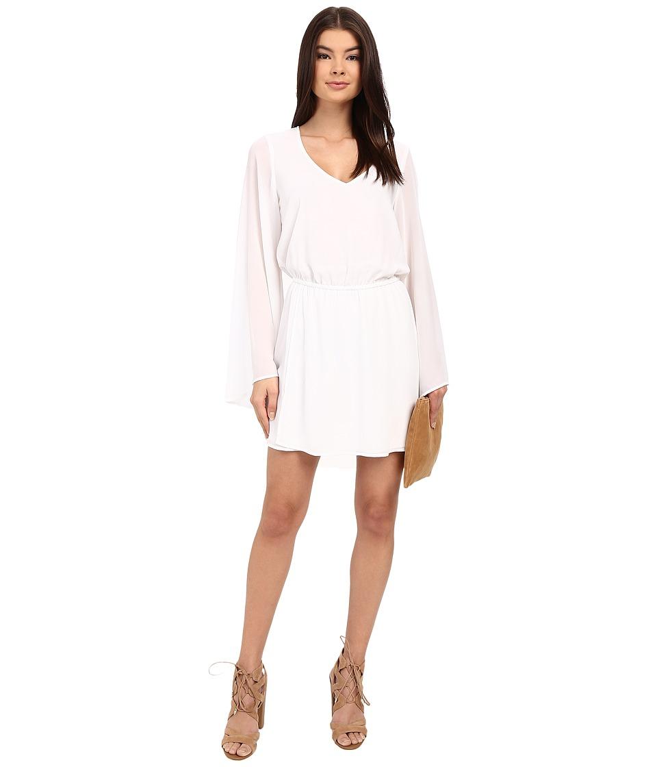 Show Me Your Mumu Runaway Mini Dress White Chiffon Womens Dress