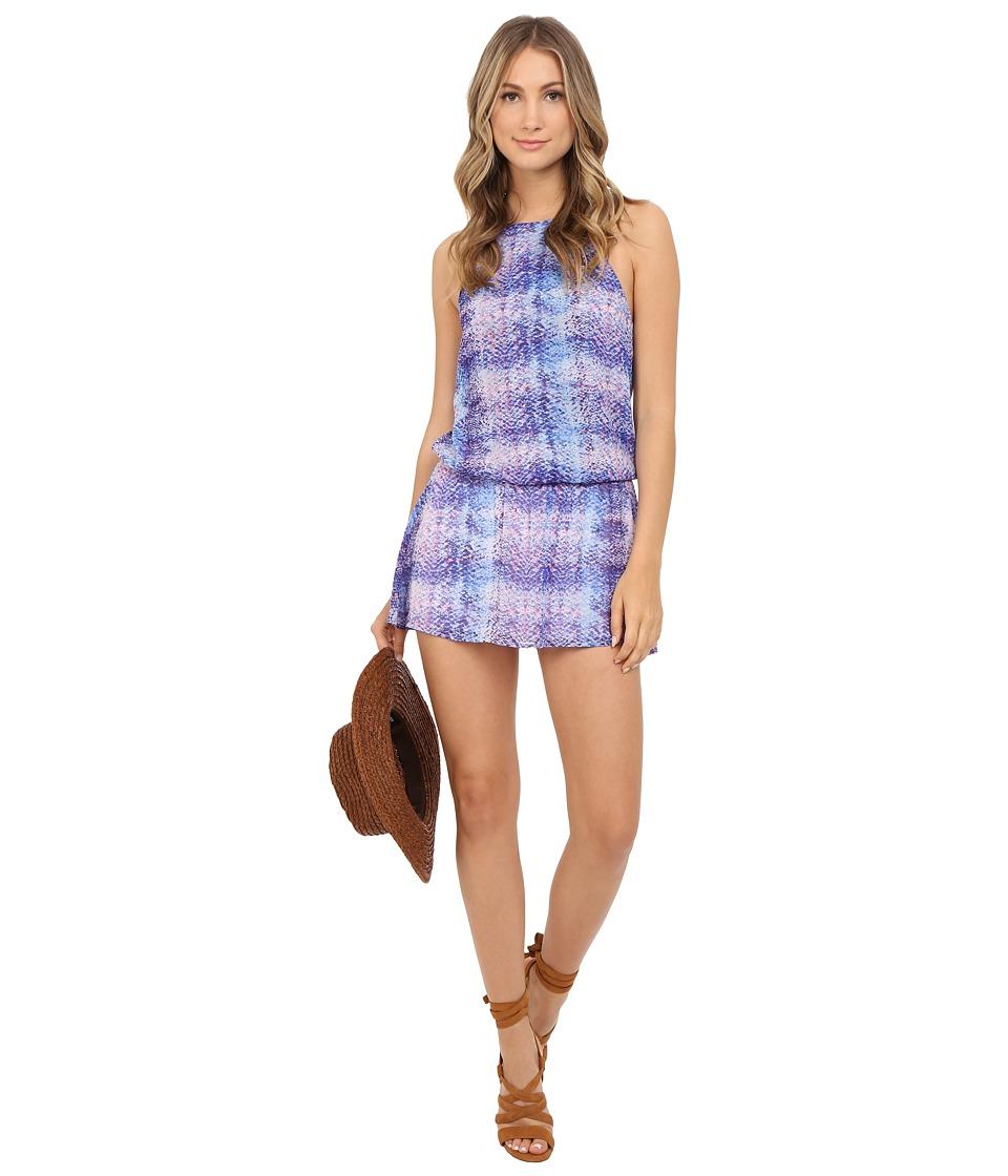 Show Me Your Mumu Hammock Halter Scrunch Dress Berry Skittle Snake Womens Dress