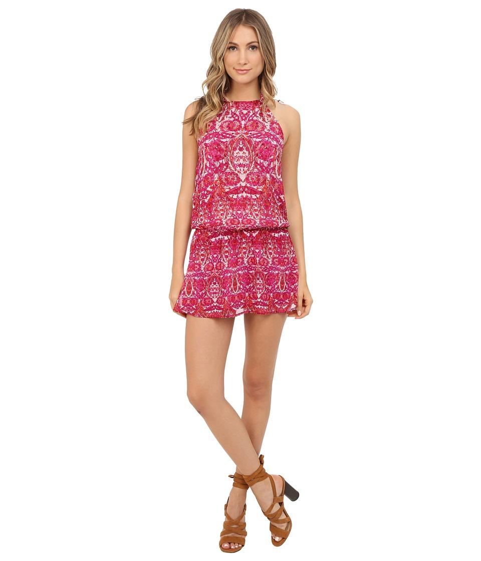 Show Me Your Mumu Hammock Halter Scrunch Dress Pomegranate Punch Womens Dress