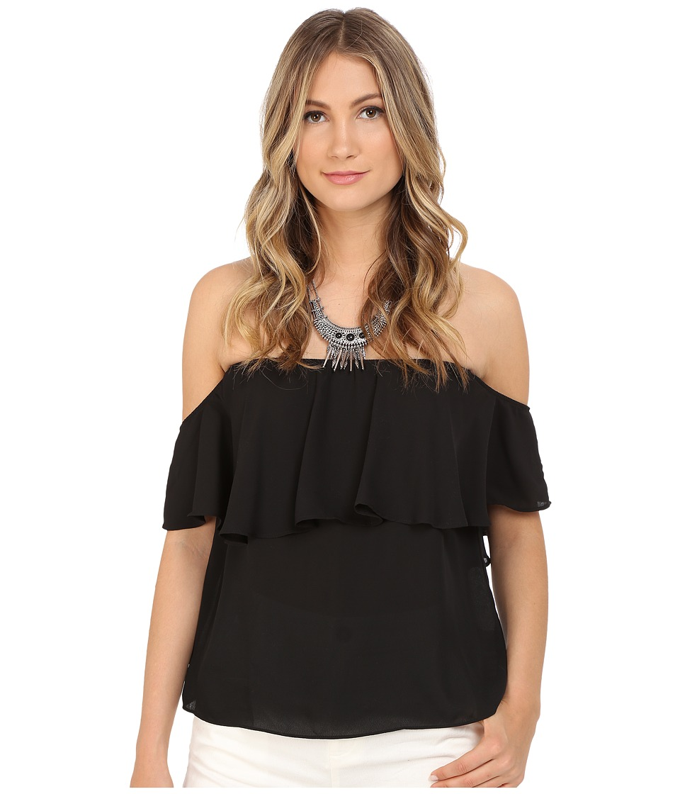Show Me Your Mumu Chiquita Top Black Crisp Womens Blouse