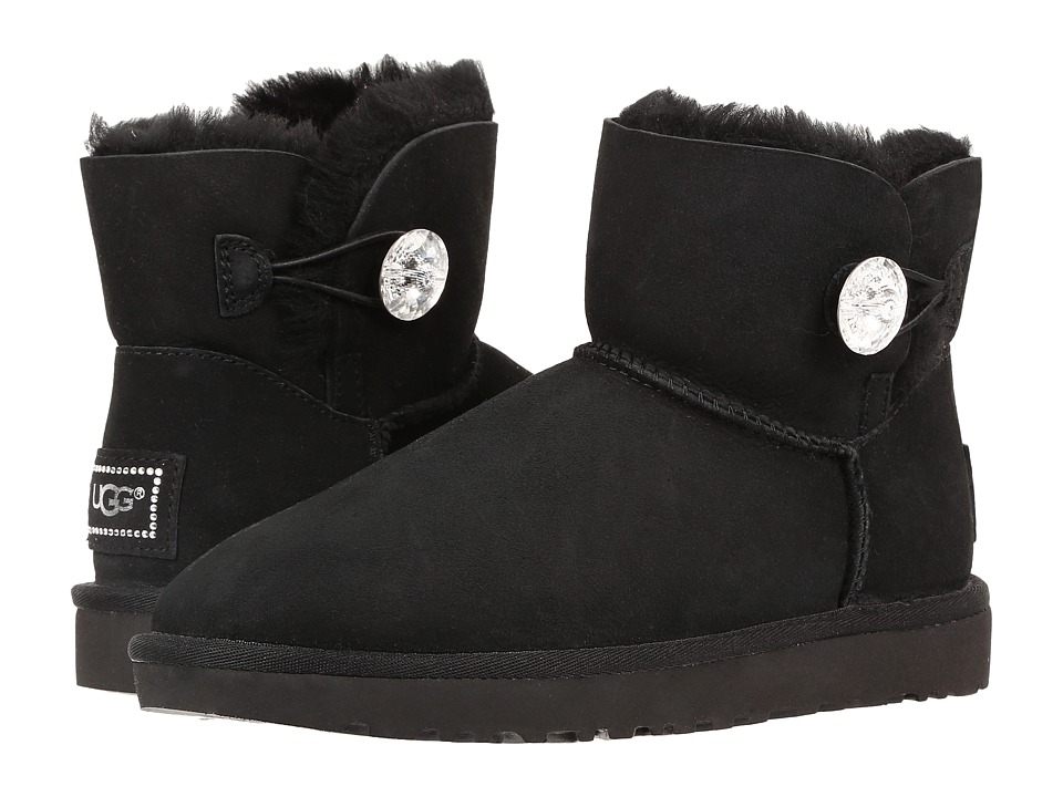 Ugg Mini Bailey Button Bling (Black) Women's Boots