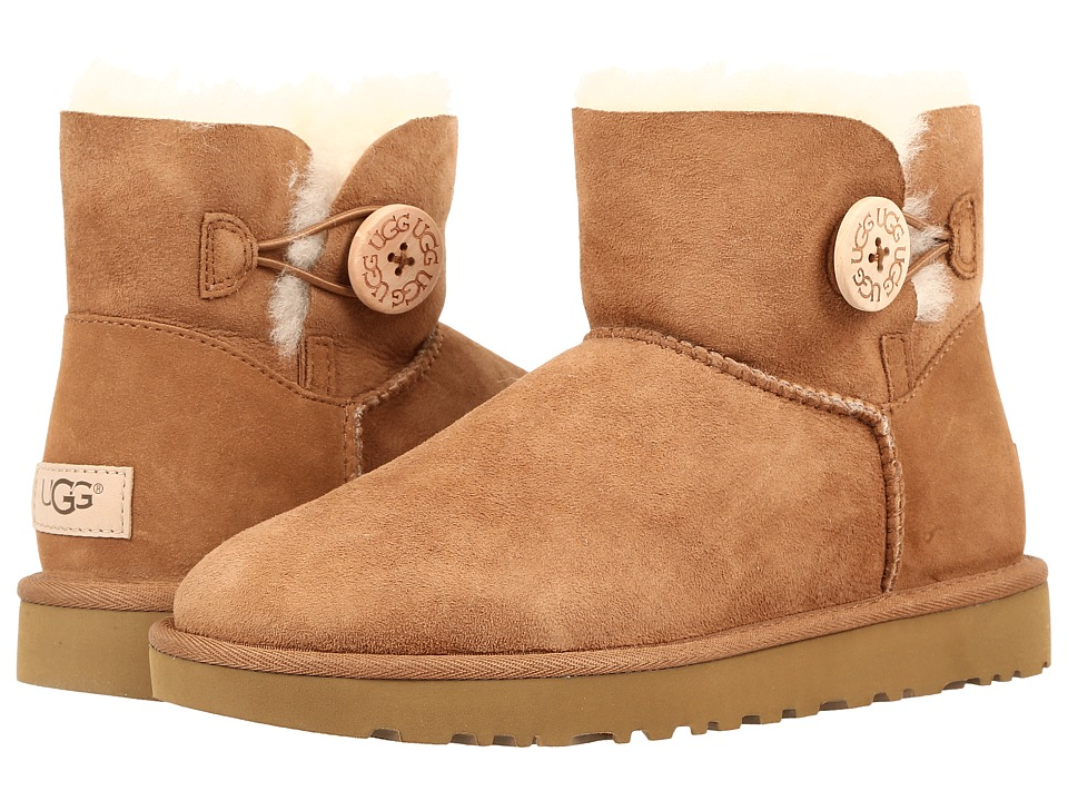 UGG Mini Bailey Button II (Chestnut) Women