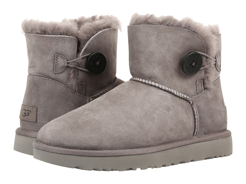 Ugg Mini Bailey Button II (Grey) Women's Boots
