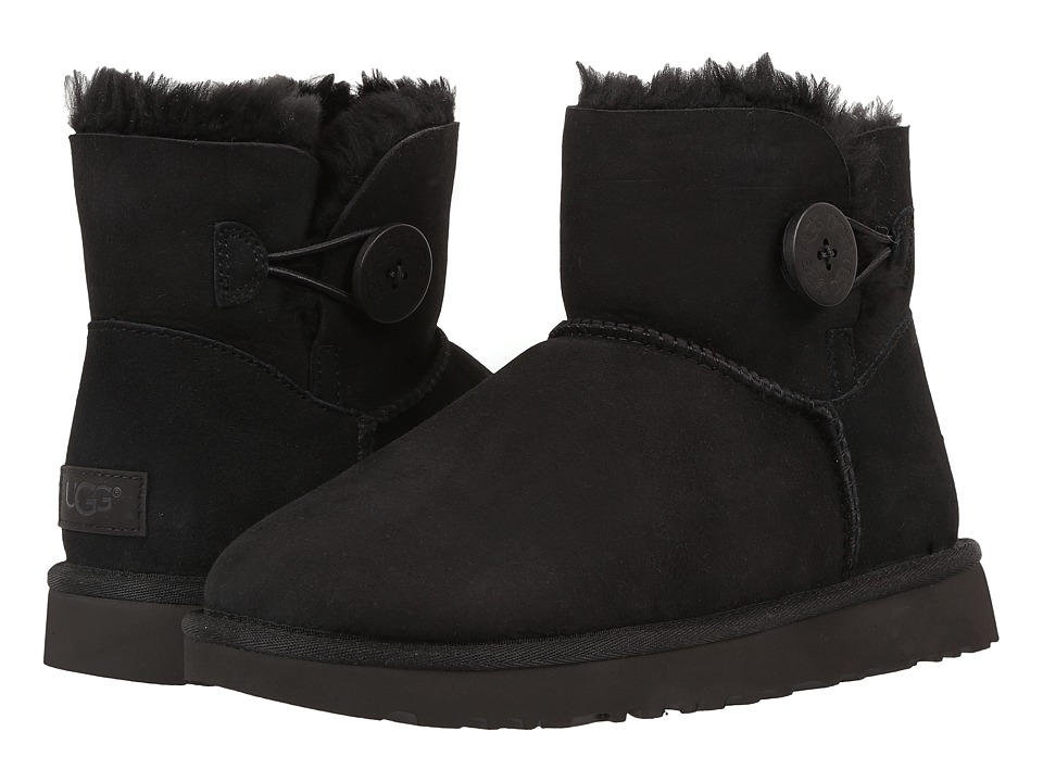 UGG Mini Bailey Button II (Black) Women