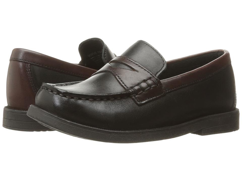 Florsheim Kids - Croquet Penny Loafer Jr. (Toddler/Little Kid/Big Kid) (Black/Brown) Boys Shoes