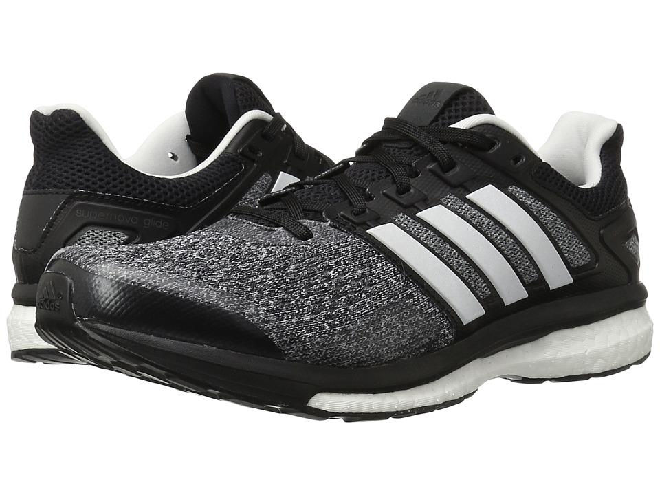 adidas Running - Supernova Glide 8 (Core Black/White/Night Metallic) Men
