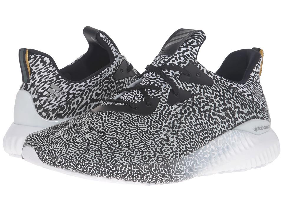 adidas Running - Alpha Bounce (Core Black/White/Crystal White) Men