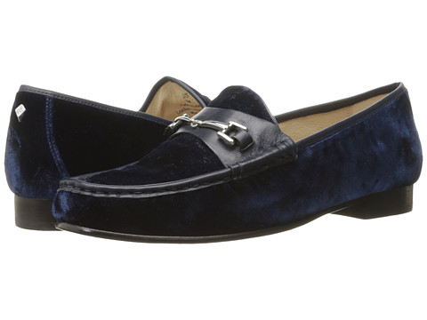 Sam Edelman Talia - Inky Navy Silky Velvet/Dress Calf Leather