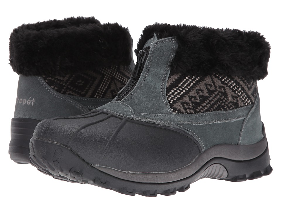 Propet Blizzard Ankle Zip II (Black/Aztec Knit) Women