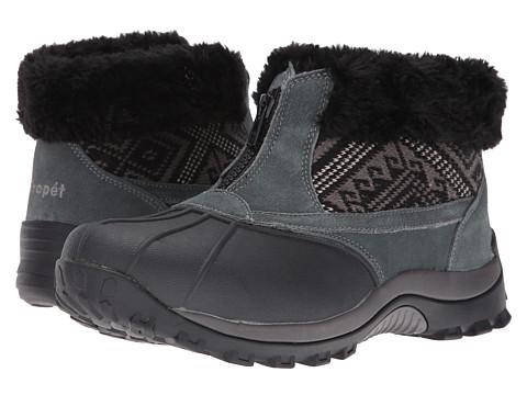 Propet Blizzard Ankle Zip II - Black/Aztec Knit